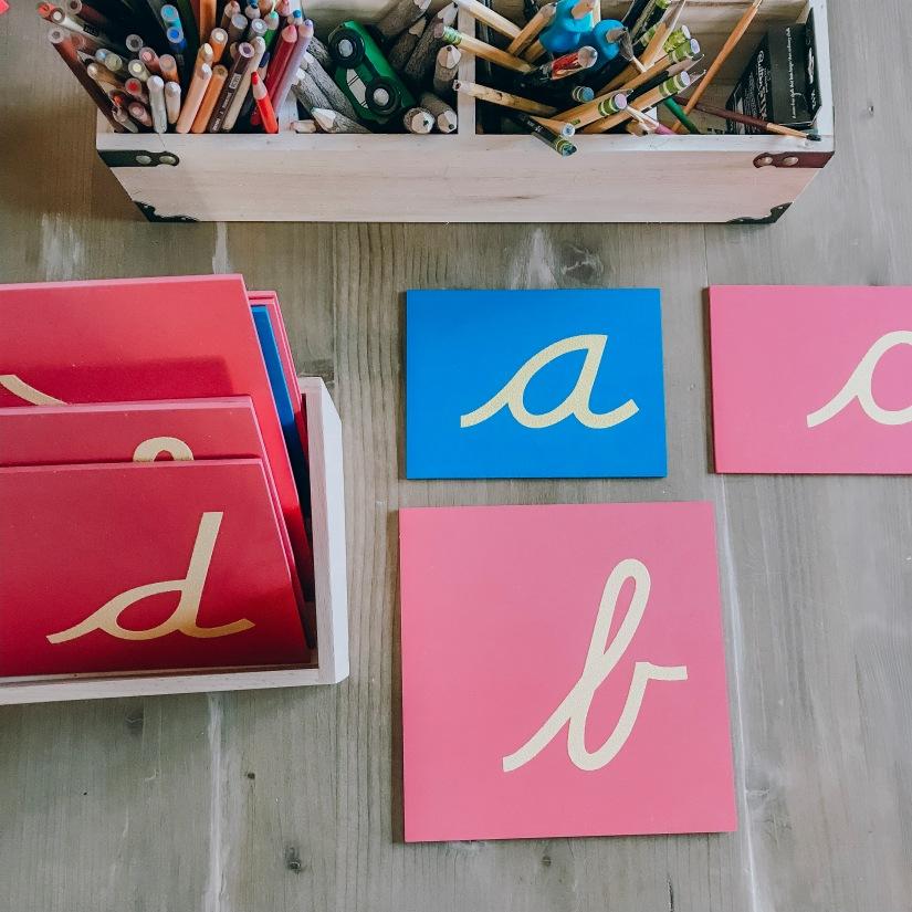 sand paper cursive letters.JPG
