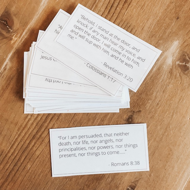 scripture cards from the peaceful press